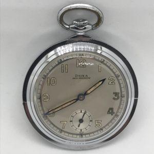 Starožitné 1 plášťové hodinky ( nickel chrom ) Doxa stojánek 5b5f8d2b02
