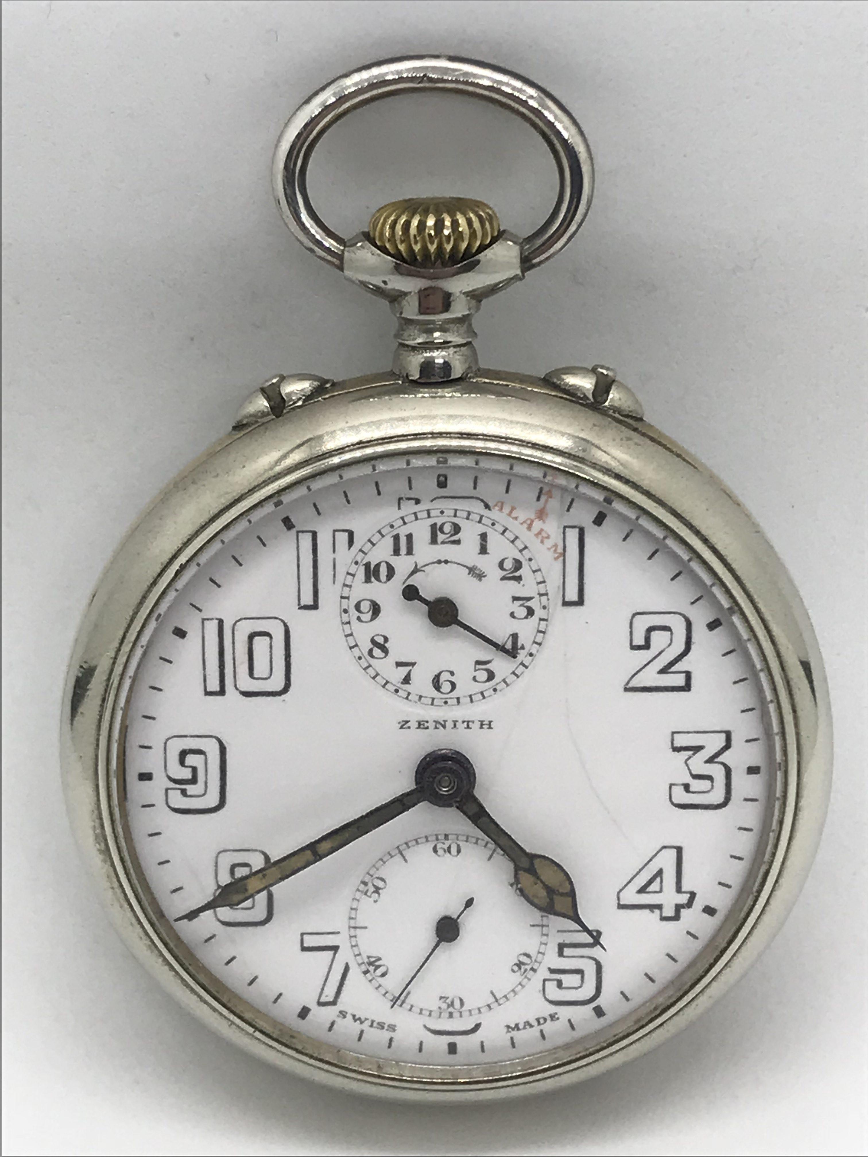 Domů Kapesní hodinky Starožitné 2 plášťové ( nickel chrom ) hodinky Zenith  s budíkem. Previous 9e121acbb0