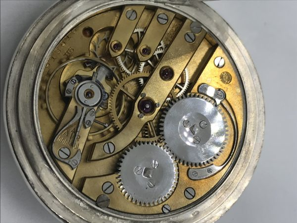 729621fd5a6 Starožitné 2 plášťové stříbrné hodinky IWC