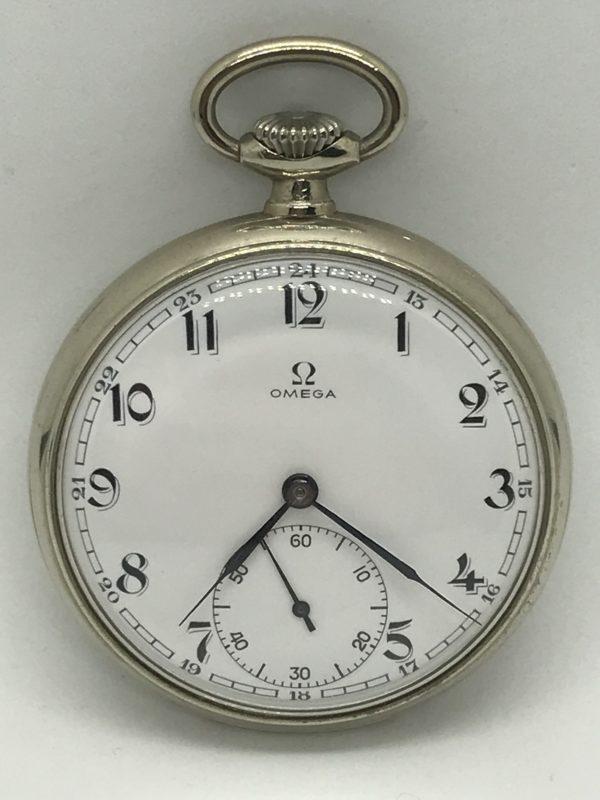 Domů Kapesní hodinky Starožitné 2 plášťové ( nickel chrom ) hodinky Omega.  Previous 196c615e34