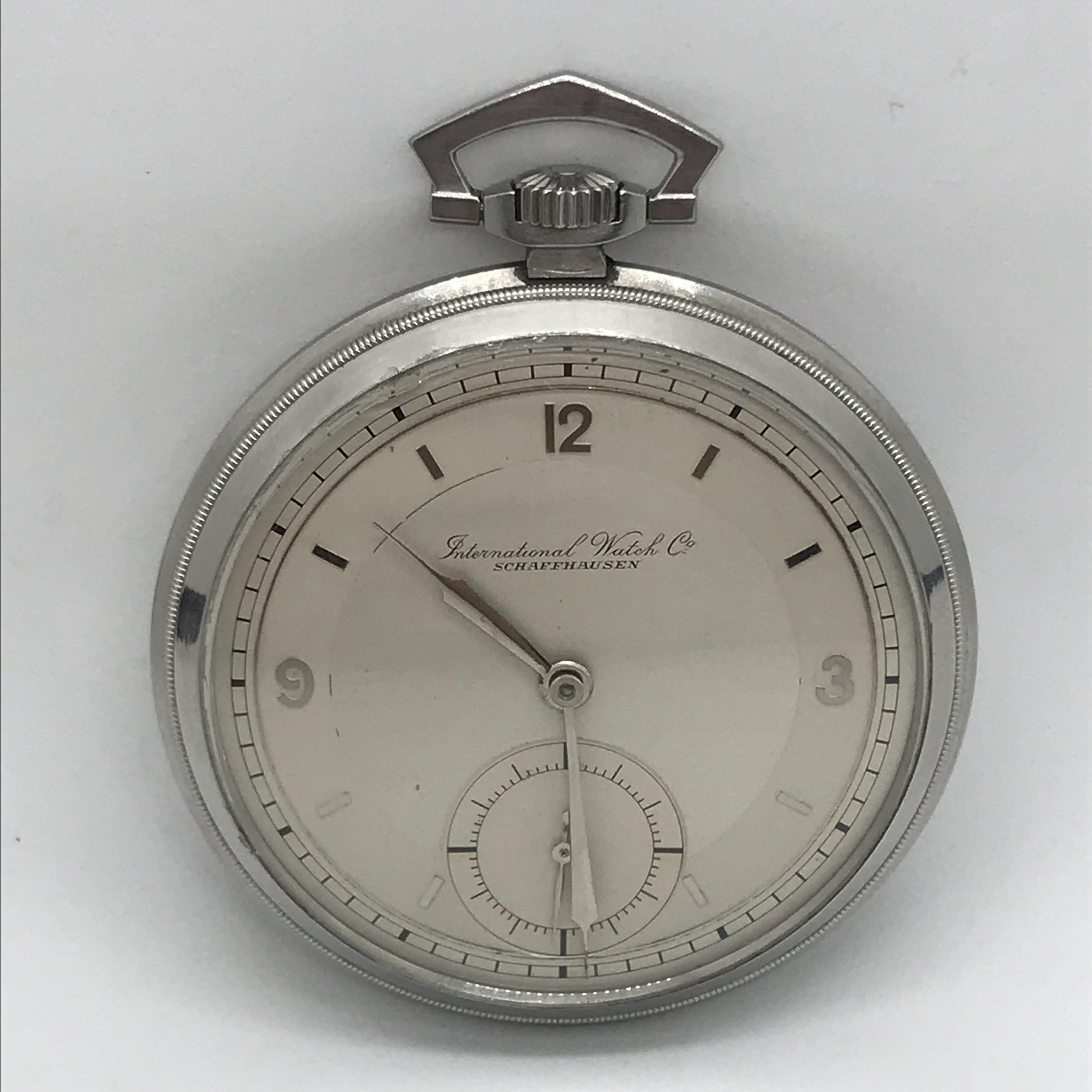 8137c60bbf8 Domů Kapesní hodinky Starožitné 1 plášťové ocelové hodinky IWC. Previous
