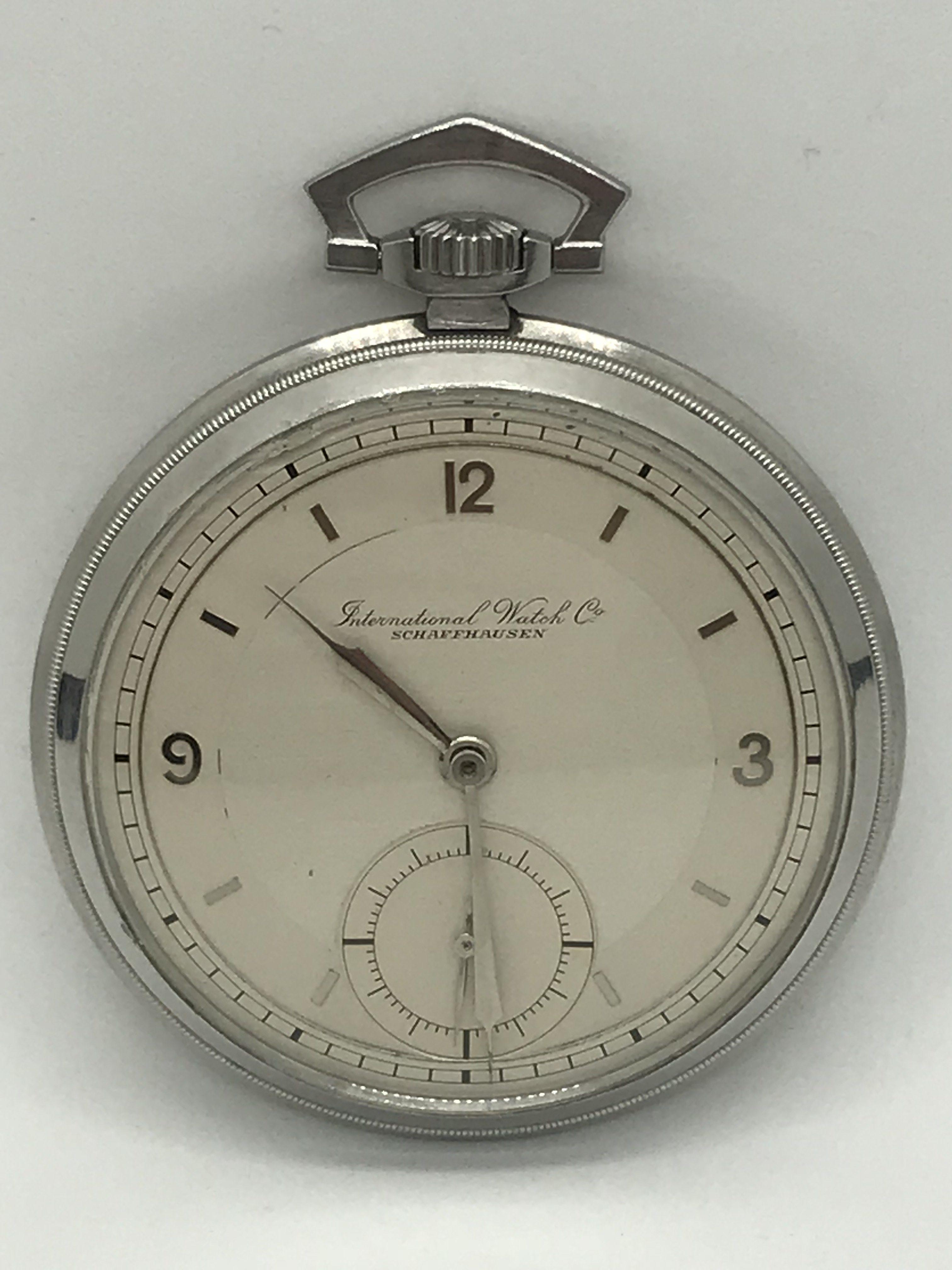 Domů Kapesní hodinky Starožitné 1 plášťové ocelové hodinky IWC. Previous 229c439e94