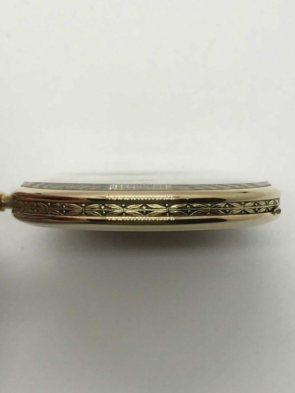 132452feb1f Starožitné 1 plášťové zlaté hodinky IWC