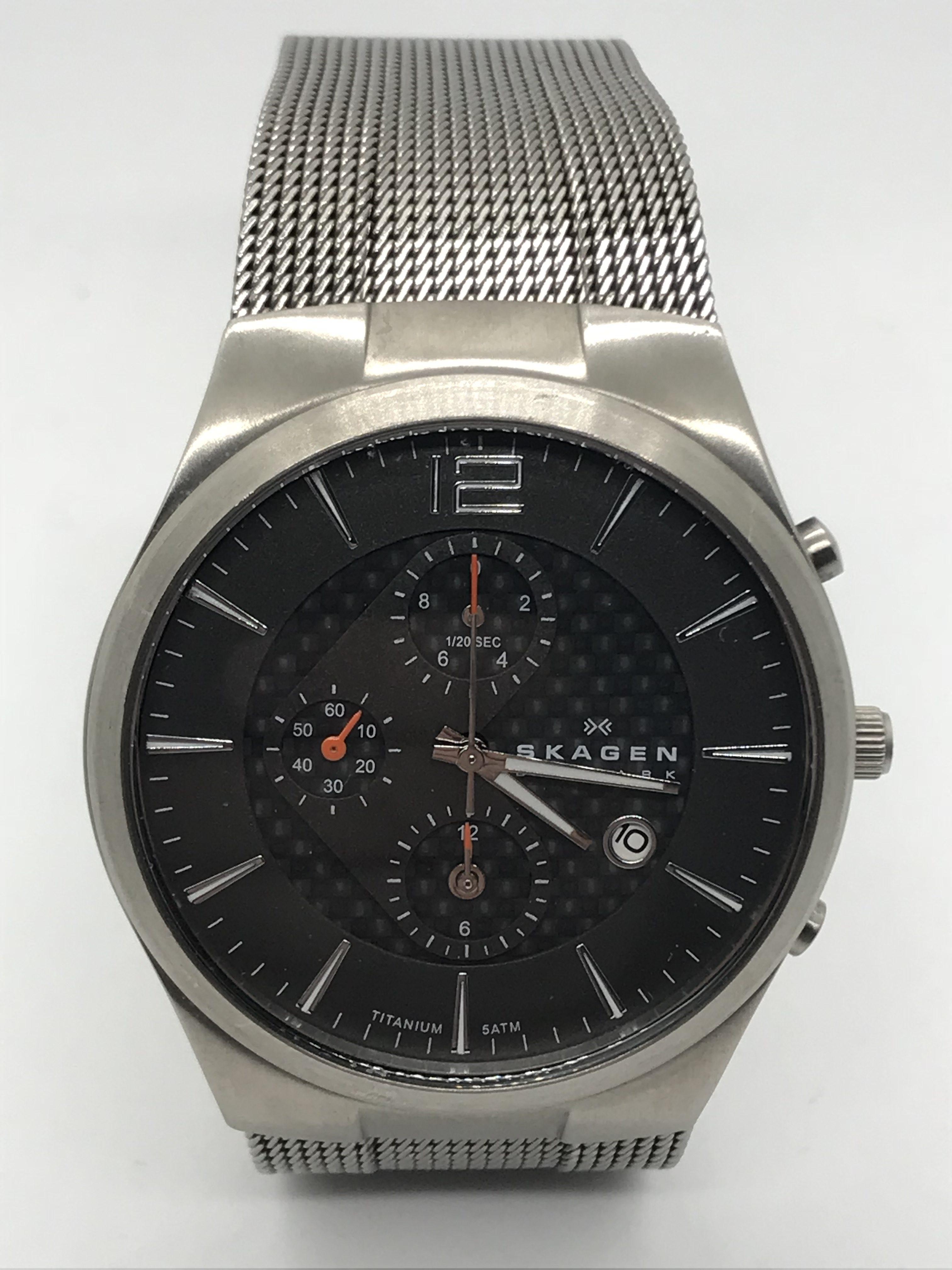 0496cecdd77 Domů Novodobé hodinky Náramkové titanové hodinky Skagen. Previous