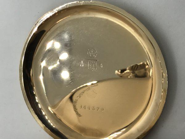 77305a82294 Starožitné 3 plášťové zlaté hodinky IWC